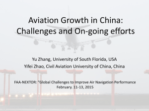 Aviation Growth in China: Challenges and On-going efforts