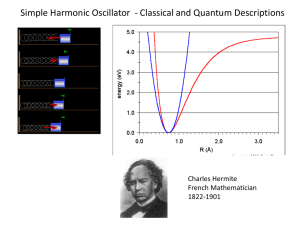 SHO Simple Harmonic Oscillator  - Classical and Quantum Descriptions Charles Hermite
