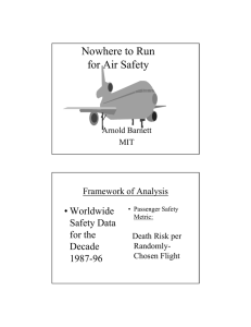 Nowhere to Run for Air Safety • Worldwide Safety Data