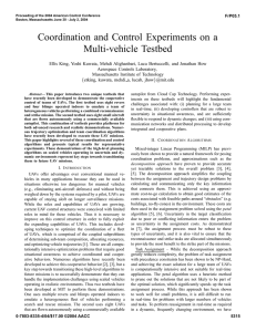 Coordination and Control Experiments on a Multi-vehicle Testbed