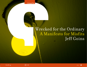 Wrecked for the Ordinary Jeff Goins A Manifesto for Misfits 68.04