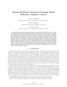 Output Feedback Concurrent Learning Model Reference Adaptive Control John F. Quindlen Girish Chowdhary