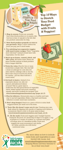 Top 10 Ways to Stretch Your Food Budget