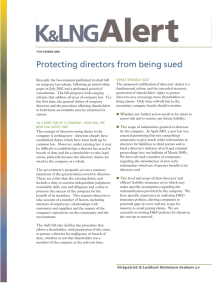 Protecting directors from being sued