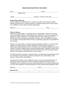 GRADE RELEASE AND POLICY ON HAZING  Name ________________________________________ CWID ____________________ (Please Print)