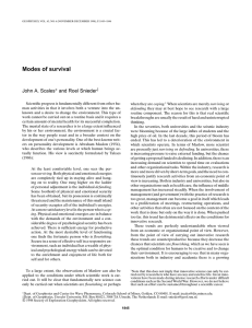 Modes of survival  John A. Scales and Roel Snieder