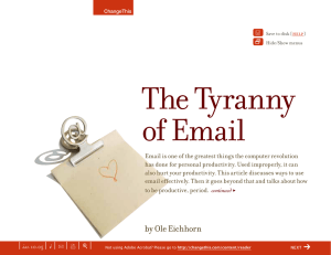 The Tyranny of Email Y