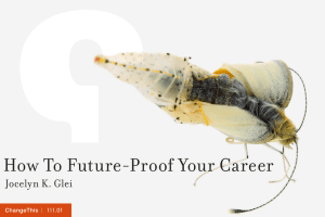How To Future-Proof Your Career  Jocelyn K. Glei |