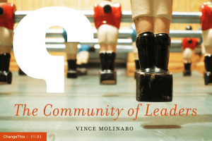 The Community of Leaders vince molinaro  |