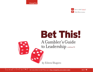 Bet This! A Gambler's Guide to Leadership |