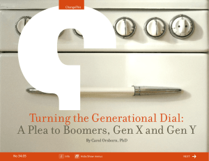 Turning the Generational Dial:  By Carol Orsborn, PhD