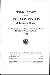 FISH COMMISSION BIENNIAL REPORT l9 27