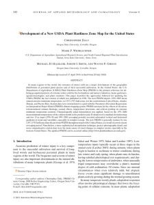Development of a New USDA Plant Hardiness Zone Map for... 242 C D