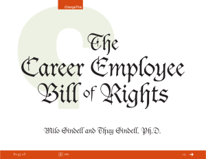 Career Employee Bill Rights The