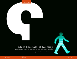 Start the Soloist Journey