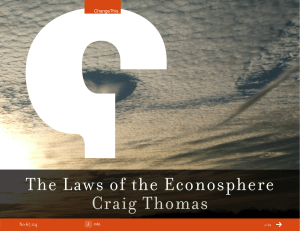 The Laws of the Econosphere Craig Thomas 67.04 No