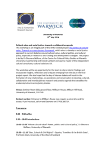 University of Warwick 15 July 2014