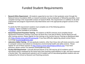 Funded Student Requirements
