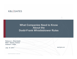 What Companies Need to Know About the Dodd-Frank Whistleblower Rules