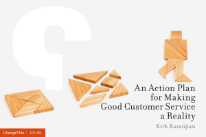 An Action Plan for Making Good Customer Service a Reality