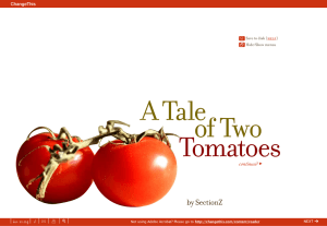 A Tale of Two Tomatoes by SectionZ