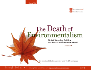 Death Environmentalism The of