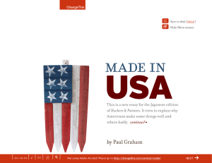 USA Made in