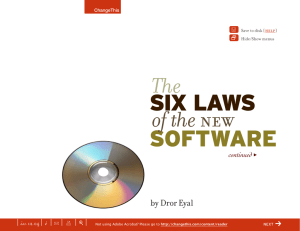 SIX LAWS  SOFTWARE of the