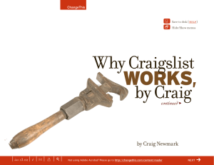 WORKS,  Why Craigslist by Craig