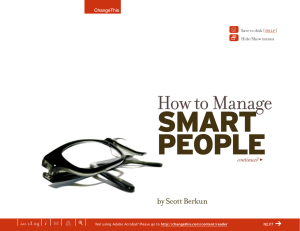 SMART PEOPLE How to Manage |