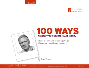 100 WAYS | f by Tom Peters