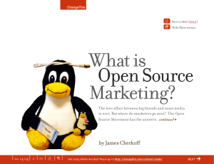 Open Source What is Marketing? Y