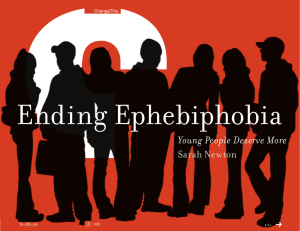Ending Ephebiphobia Young People Deserve More  Sarah Newton