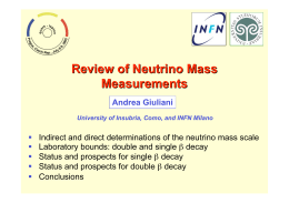 Review of Neutrino Mass Measurements