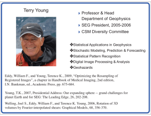 Terry Young Professor & Head Department of Geophysics