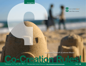 Co-Creation Rules! by James Cherkoff & Johnnie Moore + x