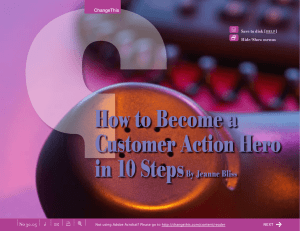 How to Become a Customer Action Hero in 10 Steps By Jeanne Bliss