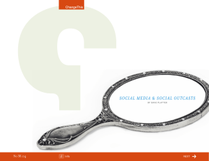 Social Media & Social outcaStS 38.04 No