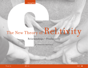 Rel tivity The New Theory of a