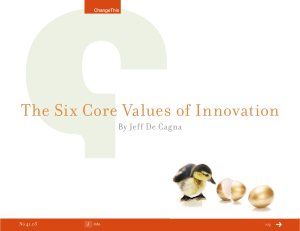 The Six Core Values of Innovation  By Jeff De Cagna 41.03