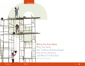 "Who's Got Your Back  Why You Need the ""Lifeline Relationships"""