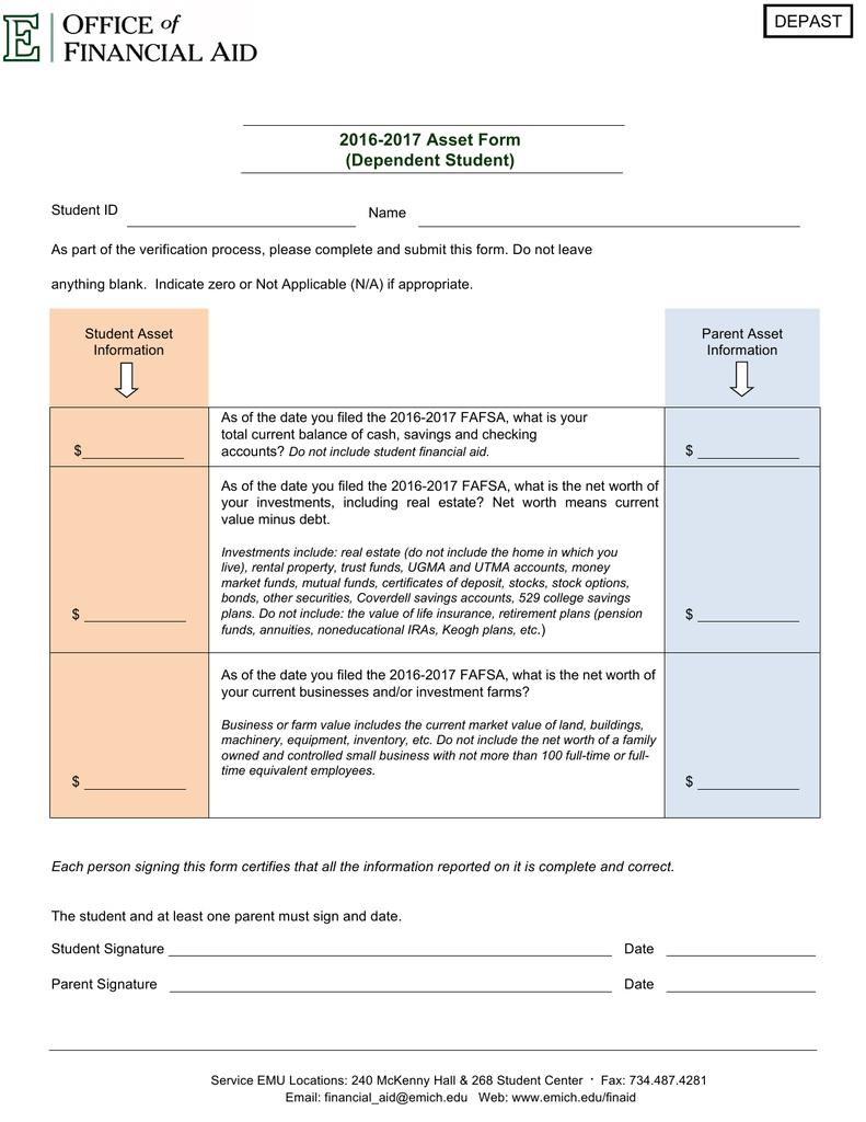 100+ [ Verification Worksheet Dependent Student ]   Resources ...