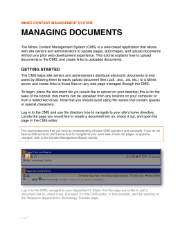 MANAGING DOCUMENTS