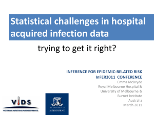 Statistical challenges in hospital acquired infection data trying to get it right?