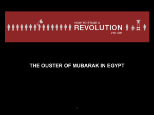 THE OUSTER OF MUBARAK IN EGYPT 1