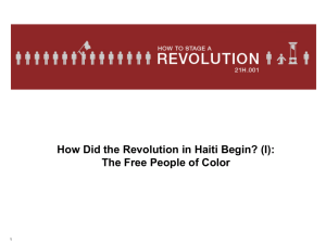 How Did the Revolution in Haiti Begin? (I): 1