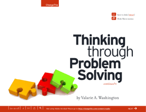Thinking Problem Solving