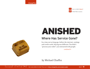 V anished Where Has Service Gone? Y