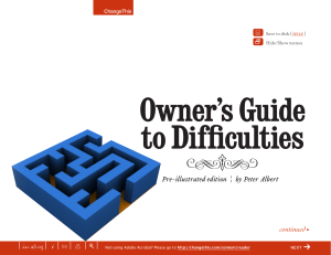 Owner's Guide to Difficulties x |