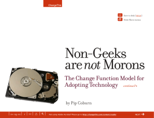 Non-Geeks not The Change Function Model for Adopting Technology